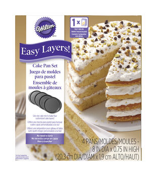 "Wilton® Easy Layers 8"" Round Cake Pan Set 4pc"