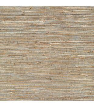 Isami Light Blue Grasscloth Wallpaper Sample