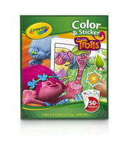 Crayola Dreamworks Trolls Color & Sticker Book, , hi-res