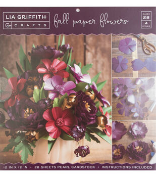 """Lia Griffith Crafts 12""""x12"""" Stack-Fall Paper Flowers"""