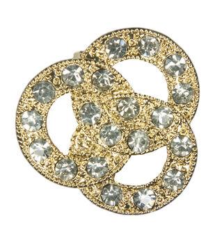 Laliberi Rhinestone Pin - Crystal Circles in Gold