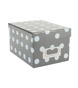 DCWV Mini Box: Black with polka dots