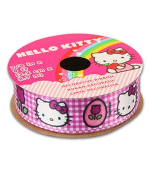 Hello Kitty Easter Ribbon-Plaid W Tulip