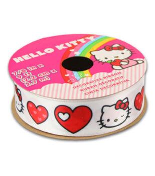Hello Kitty Valentines Ribbon-Hearts