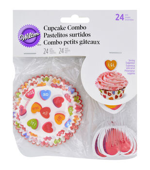 Wilton® Cupcake Combo Pack-Words Can Express 24/Pkg