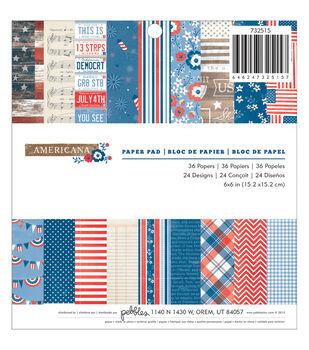 Pebbles Americana Paper Pad 6''x6''