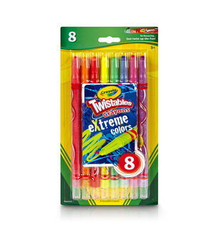 Crayola Twistables Extreme Crayons 8/Pkg-Bright Neon