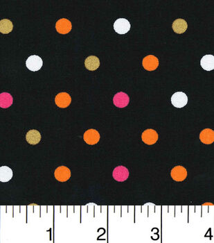 Halloween Dots Pink And Orange