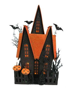 Maker's Halloween Orange Roof Spooky House