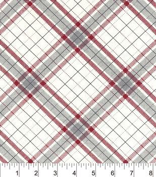 Snuggle Flannel Fabric-Riley Plaid