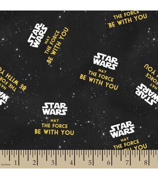 Star Wars™ Print Fabric-May The Force Be With You
