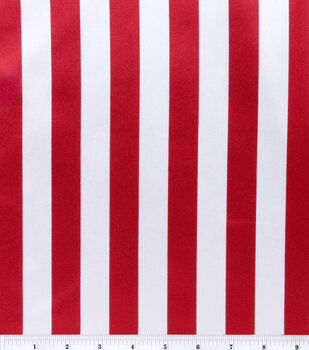 Halloween Fabric-Fabric-Satin Stripe Red