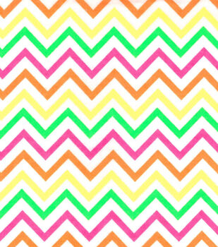 Fashion Flannel Chevron Neon