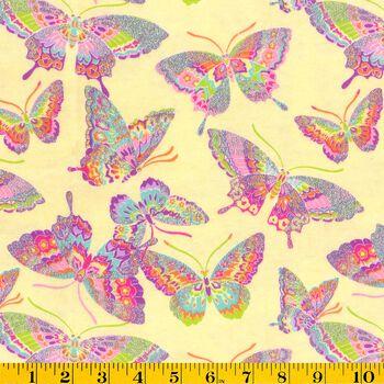 Snuggle Flannel Fabric- Glitter Butterflies