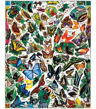 White Mountain Puzzles Jigsaw Puzzle Butterflies Of The World
