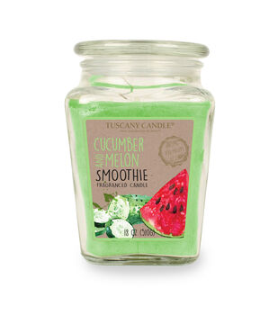 Escape to Paradise Fruit Smoothie 18 OZ  Cucumber And Melon Jar Candle-Green