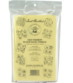 Aunt Marthas Old Fashion Flour Sack Towels-White 2/pk