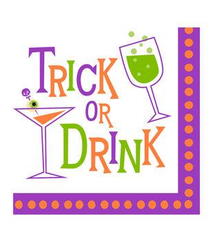 Maker's Halloween 20ct Beverage Paper Napkins-Trick or Drink