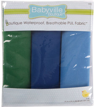 "Babyville Boutique 21""x24"" Solid Waterproof Diaper Fabric Boy"
