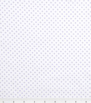 Nursery Baby Basic Fabric Dots Lilac on White, , hi-res