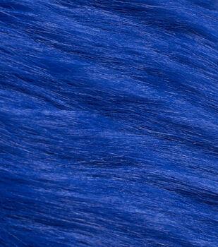 Fashion Faux Fur Fabric-Dark Blue