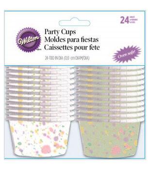 Wilton® Bakeable Nut & Party Cups-Sweet Splatter 3.25oz 24/Pkg