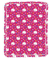 "Hello Kitty Multi Dots 48"" No Sew Throw, , hi-res"