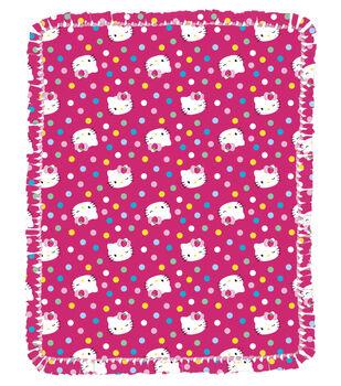 """Hello Kitty Multi Dots 48"""" No Sew Throw"""