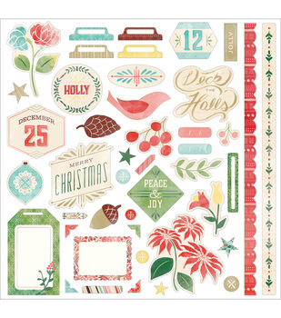 "Evergreen Cardstock Stickers 12""X12""-Element"