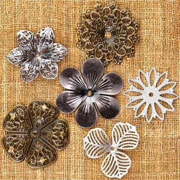 Prima Marketing Mechanicals Metal Vintage Trinkets Flowers Medium