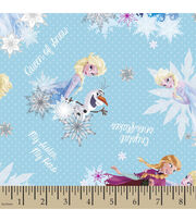Disney® Frozen Crystal Snowflakes Cotton Fabric, , hi-res