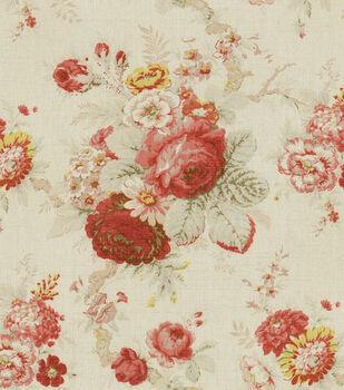 Waverly Upholstery Fabric-Norfolk Rose