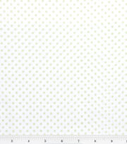 Nursery Baby Basic Fabric Dots Green on White, , hi-res