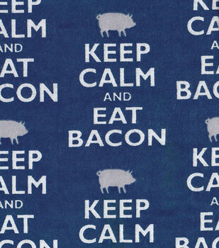 Snuggle Flannel Fabric-Eat Bacon