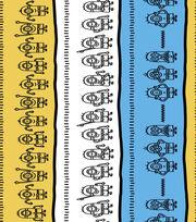 Minions Linework Stripe Cotton Fabric 44'', , hi-res