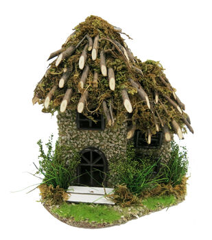 Fairy Garden Twig Roof House