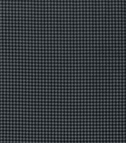 Keepsake Calico Cotton Fabric-Black Gray Houndstooth, , hi-res