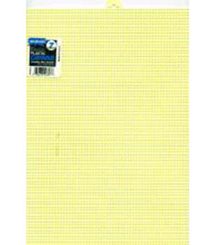 "Plastic Canvas 7 Count 10""X13""-Yellow"