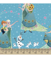 Disney® Frozen Sisters and Olaf Cotton Fabric, , hi-res