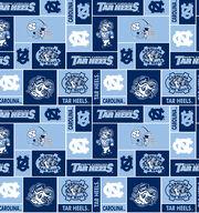 University of North Carolina NCAA Block Fleece Fabric, , hi-res