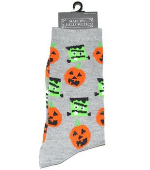 Maker's Halloween Socks-Frankenstein Pumpkin Crew