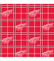 Detroit Red Wings NHL Plaid Flannel Fabric, , hi-res