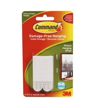 Command Medium Picture Hanging Strips-4 pk