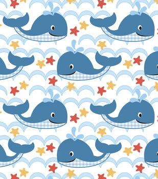 Nursery Flannel Fabric-Sea Waves