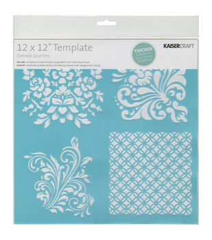 Kaisercraft Damask Quarters Template
