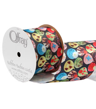 """Offray 2.25"""" x 9' Foods Potato Chips Ribbon"""
