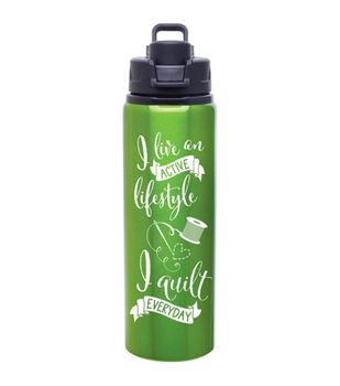 K1C2 28 oz Quilt Happy Lifestyle Water Bottle