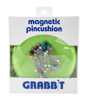 Grabbit Magnetic Pincushion With 50 Pins-Lime