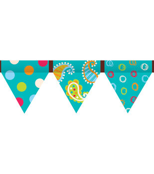 Dots-On-Turquoise Collection: Pennant Border