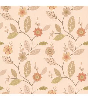 Claudia Apricot Retro Blossom  Wallpaper